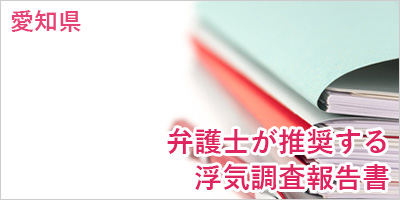 探偵名古屋 弁護士が推奨する浮気調査報告書