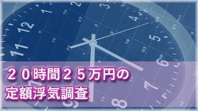 愛知県浮気調査 20時間25万円定額浮気調査